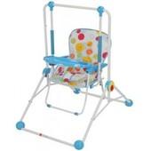 Детские качели Q01-PVC-4 со столиком, трансформер, голубая