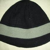 Теплая зимняя двойная шапка мальчику 3-5 лет в идеале