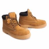 Мужские зимние ботинки коричневого цвета