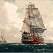 Картина по номерам Turbo Корабль в море VP256
