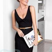 Облегающее деловое платье 4 цвета Красивый вырез в зоне декольте и на спинке