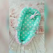 Гнездышко кокон для новорожденных Двухсторонний