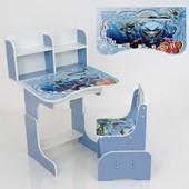 """Парта школьная """"Немо""""  69*45 см., цвет голубой, + 1 стул"""