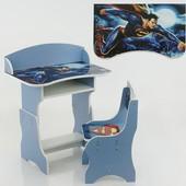 "Парта-пенал  ""Супермен"" цвет синий (парта+1 стул)"