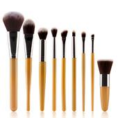 Кисти для макияжа профессиональные,полный набор из 9 кистей на все случаи жизни