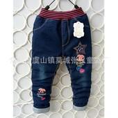 Теплые джинсики девочкам. Рисунок не наклейка. Вышивка + стразы камни!!! .