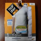 Белоснежная качественная мужская футболка Nur Die, р. L