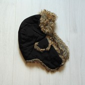 Шикарная зимняя шапка для парня. Внутри синтапон. Sätila (Швеция). Размер от 10-ти лет