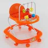 Ходунки детские мод.7777 цвет Оранжевый.