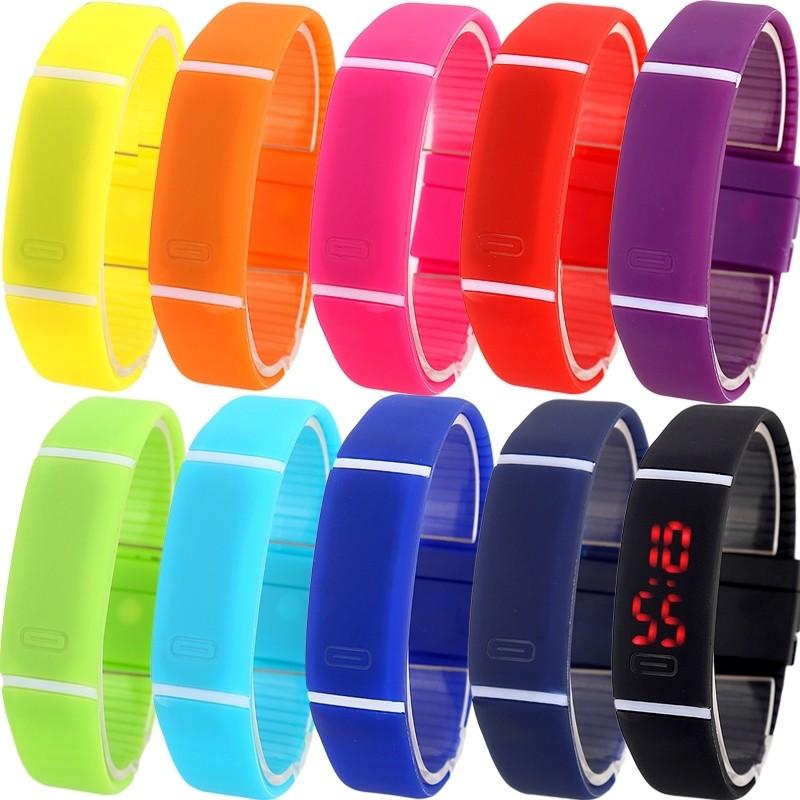 Спортивные силиконовые водонепроницаемые наручные led часы - браслет 2 в 1 фото №1