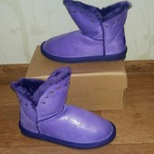 Яркие угги Purple с напылением в наличии