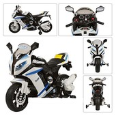 Детский мотоцикл BMW HA528 (s1000),(m2769) лицензионный, белый
