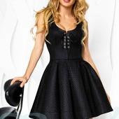 Маленькое черное платье  мини красивое платье