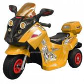 Детский мотоцикл-мопед FT 747 надувные колеса,желтый