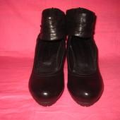 Кожаные фирменные туфли Roberto Santi (оригинал) - 37 размер