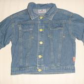 лёгкая джинсовая куртка-пиджачёк на 1.5-2 года