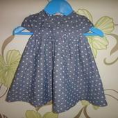 Джинсовое платье Bluezoo  3-6 мес, 68 см