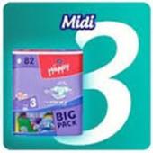 Памперсы/Підгузники дитячі Happy Midi (3) від 5-9 кг 72 шт
