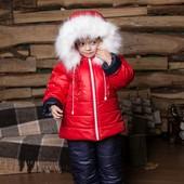 Теплый зимний комбинезон
