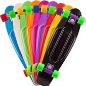 Скейт пенни, 55 14,5см пластик-антискол , пластик подвеска, кол MS0847