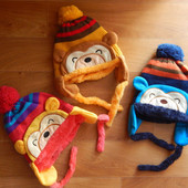 Теплая зимняя шапка Обезьянка