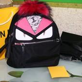 Брендовый рюкзак fendi монстр люкс!