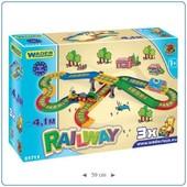 Железная дорога Kid Cars 4,1 м Wader арт. 51711