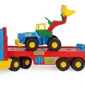 Машина Super Truck с трактором Wader 36520