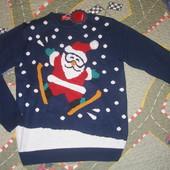 Мужской новогодний свитер.Испания.Оригинал.Укр 46-54