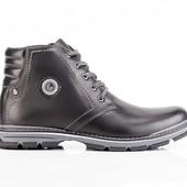 Ботинки Зимние Кожаные Мужские (045ч)