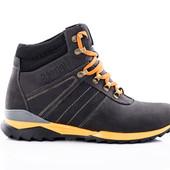 Ботинки Зимние Кожаные (084ч)