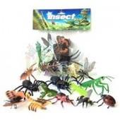 Набор насекомых и скорпион, 2 вида ,  10  шт в наборе