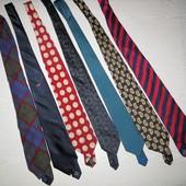 брендовые галстуки Италия из 100% шелка и один из 100% шерсти