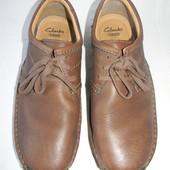Мужские кожаные туфли Clarks р.9G дл.ст 28,5см