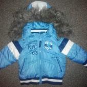Демисезонная куртка на сентепоне!р.68 см
