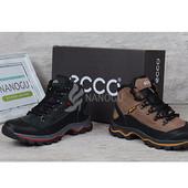Ботинки зимние кожаные Ecco Gore-tex на натуральном меху
