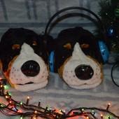 Мужские тапочки игрушки собаки
