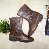 (38р.) Caprice! Кожа! Удобные сапоги, ботинки в классическом стиле