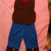 Карнавальный новогодний костюм Гном на 1-2года Disney