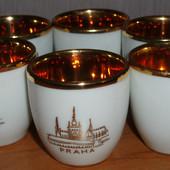 Стопки Praha фарфор Czechoslovakia