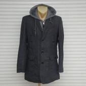 Распродажа! Мужское демисезонное шерстяное пальто на утеплителе O & S.