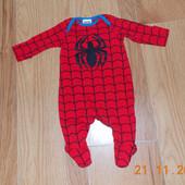 Новогодний человечек Spider man для мальчика 0-3 месяцев