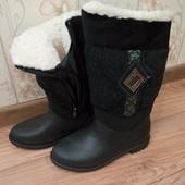 Модные зимние женские дутики на слякотную погоду. Размеры 37-41.