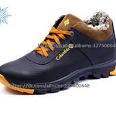 Ботинки Columbia Track II, на меху, р. 40-45, натур. кожа, черн., син, код kv-3919-11