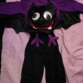 Карнавальный новогодний костюм летучья мышь на 1-3года helloween