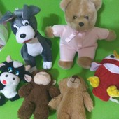 мягкие игрушечки разные