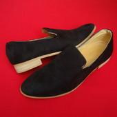 Туфли лоферы Black 42 размер