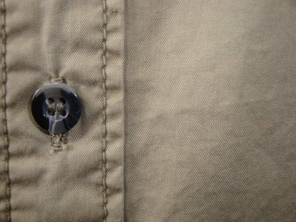 Мужская оливковая рубашка с длинным рукавом scout. фото №2