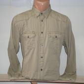 Мужская оливковая рубашка с длинным рукавом Scout.
