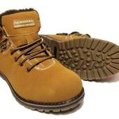 Ботинки Мужские Набук Зима (А-5)